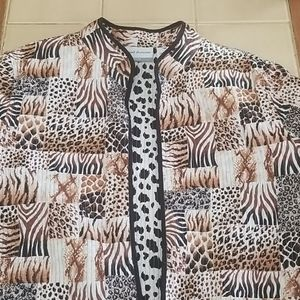 - Animal print jacket